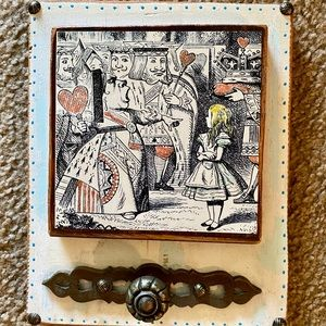 Vintage Alice In Wonderland Wooden artwork